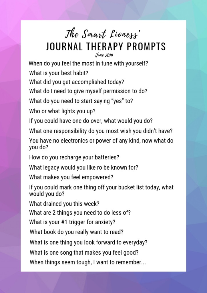 List of twenty Journal Prompts